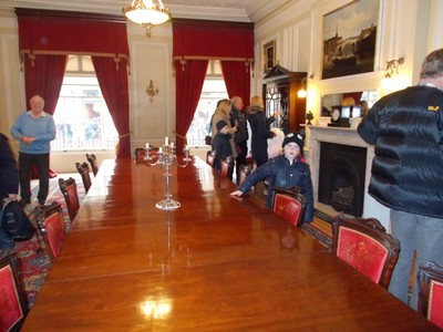 INSIDE YORK MANSION HOUSE.