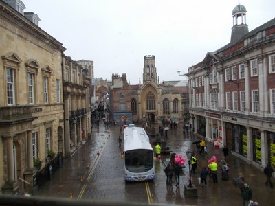VIEW FROM THE WINDOW OF MANSION HOUSE,LOOKING INTO ST. HELENS SQUARE.-THE CENTRAL TOWER OF YORK MINSTER CAN BE SEEN