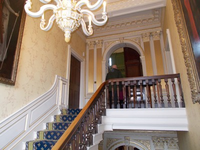 STAIRCASE IN YORK MANSION HOUSE, home of the Lord Mayor of York,during his/her term of office.