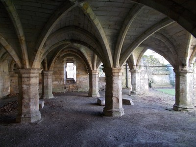 INSIDE ST LEONARDS HOSPITAL RUIN