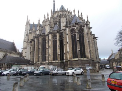 AMIENS,  FRANCE.   Cathedral Notre-Dame d Amiens.