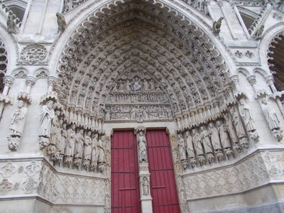AMIENS,  FRANCE.  Cathedral  doorway.