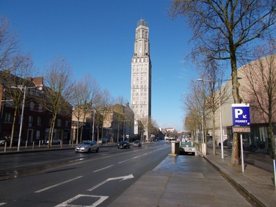 AMIENS,  FRANCE.   Tower Perret.   110m  high.