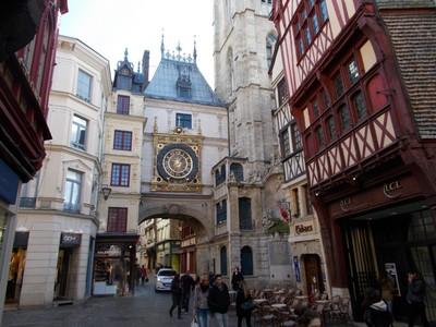 ROUEN,  FRANCE .  Rue du Gros- Horloge.