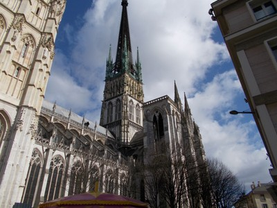 ROUEN,  FRANCE,  -- Cathedral, Tallest spire in France, 83m.