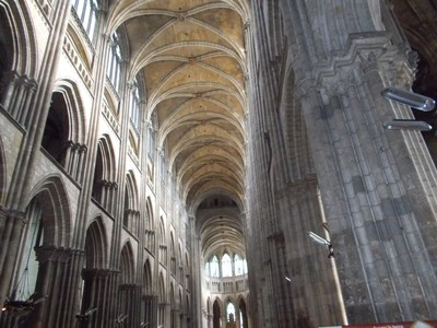ROUEN,  FRANCE.  Nave of Cathedral.
