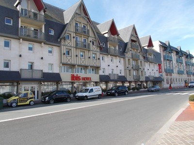 DEAUVILLE,  FRANCE.   I stayed here at the Ibis Hotel,facing the river.