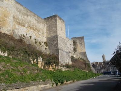 CAEN CASTLE. Castle from outside.