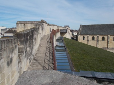 CAEN FRANCE On the castle wall.