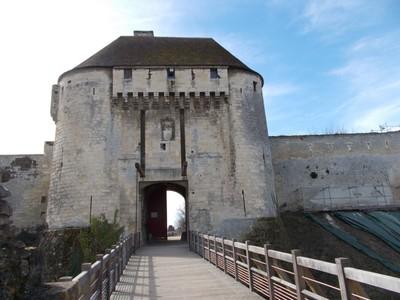 CAEN FRANCE,. Entrance to castle.