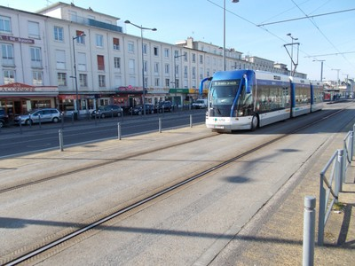 CAEN FRANCE . Trams are due for update.in 2020.