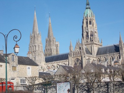 BAYEUX CATHEDRAL .  Cathedral of our Lady of Bayeux. It is a Roman Catholic church.