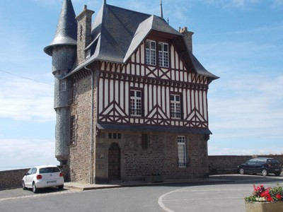 GRANVILLE,  FRANCE.  Lookout house.  The sea is behind.
