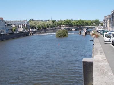 LAVAL,  FRANCE .  River Mayenne.