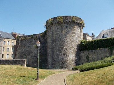 LAVAL,  FRANCE.  --.Medieval Wall