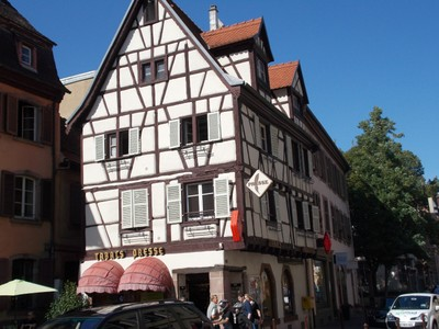 COLMAR FRANCE.one of many timber framed buildings.