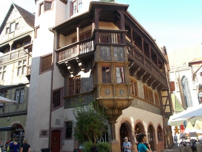 COLMAR, FRANCE. Maison Pfister house ,, 500 years old., in Rue Des Marchands.