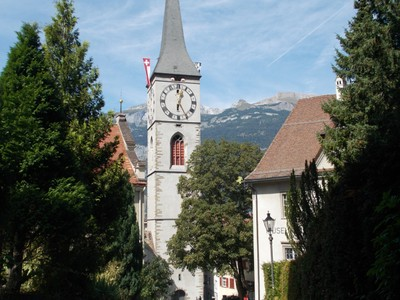 CHUR, St. Martins Church.It is the Reformed church in Chur. Church completed around 1491. Tower can be climbed by appointment with the keyholder.