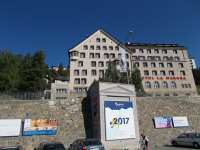 ST.MORITZ, SWITZERLAND,Opposite the railway station.