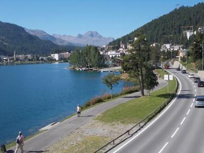 ST.MORITZ SWITZERLAND. Beautiful lake view.