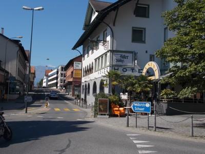 LIECHTENSTEIN VADUZ Main Street.