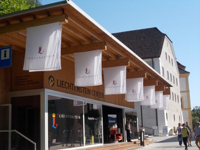 LIECHTENSTEIN VADUZ. Tourist Office. A stamp can be bought here for the passport.