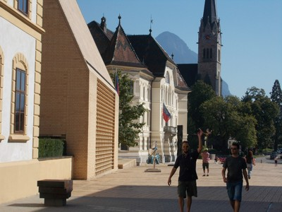 LIECHTENSTEIN.  VADUZ. Tower of St. Florin Cathedral.