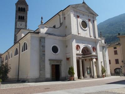 TIRANO ITALY.   St. Martins church in Piazzo St. Martino.