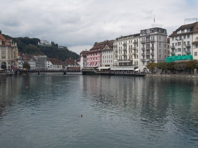 LUCERNE  SWITZERLAND..   At the end of Lake Lucerne.