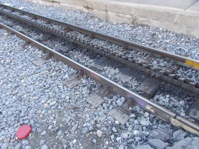 Cog rail for mountain railway.