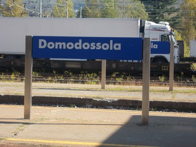 DOMODOSSOLA Italy  Rail station.