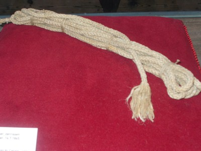 Climbing rope from ill fated first climb,in Zermatt Museum.