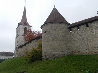 MURTEN  SWITZERLAND..  City wall ,outside city.
