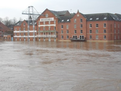 YORK,  river ouse in flood.