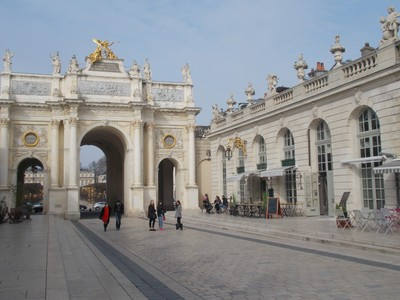 NANCY  FRANCE.   Arch Here, triumphal arch in honour of King Louis XV.   Architect  Emmanuel  Here.