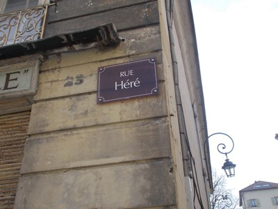 NANCY  FRANCE,  Street sign  ...Here was a architect.