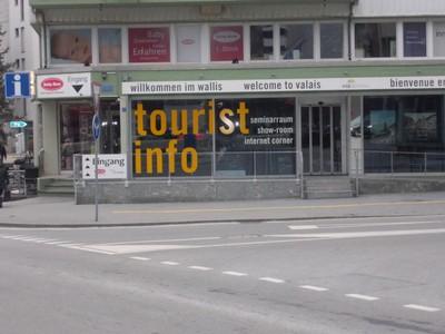 VISP  SWITZERLAND.   Tourist office,near rail station.