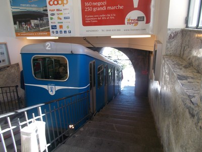SWITZERLAND LOCARNO.Funicular up to Orselina, for church of Madonna del Sasso.