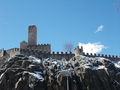BELLINZONA   SWITZERLAND.   Castelgrande  above town.