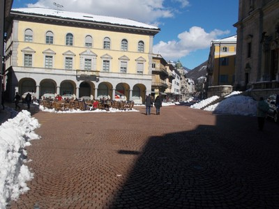 BELLINZONA,  SWITZERLAND. -- Piazza Collegiata.