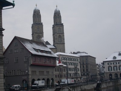 ZURICH  SWITZERLAND.   Grossmunster.
