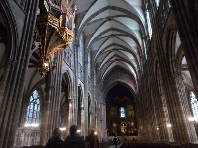 STRASBOURG,  FRANCE.  Nave.of  cathedral.