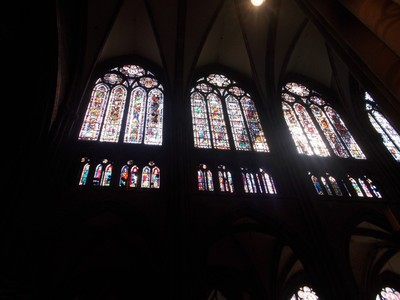 STRASBOURG,  FRANCE.  Windows in Cathedral.