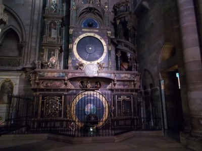 STRASBOURG,  FRANCE.  Astronomical clock in the Cathedral.  dates from 1842.