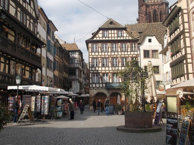 STRASBOURG, FRANCE,   Near cathedral.