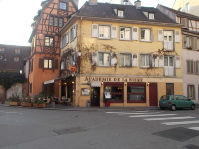 """STRASBOURG,  FRANCE.    I did""""nt know, i had to go to school to learn about drinking beer.!"""