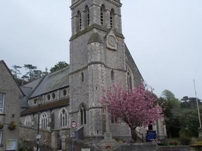 BEER DEVON.  Parish church in main street.