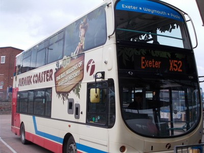 BUS TO EXETER IN ENGLAND