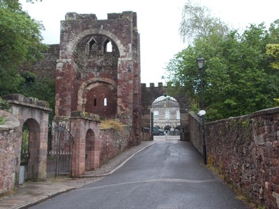 EXETER DEVON. Castle Norman gateway.