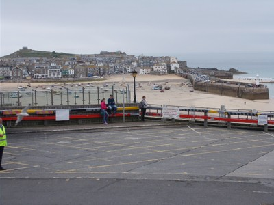 ST.IVES,CORNWALL.View from front door of Guest House.